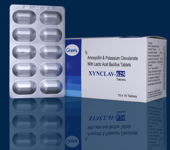 Amoxycillin & Potassium Clavulanate With Lactic Acid Bacillus Tablets